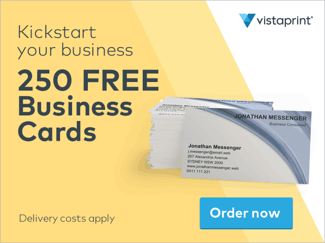 Free business cards vistaprint nz bargainer reheart Choice Image