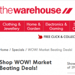 the warehouse free shipping
