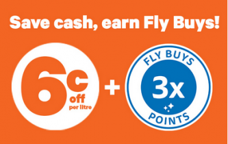 Fly Buys – Save on fuel and earn triple points