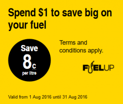 FuelUp – Save 8 cents per litre on fuel